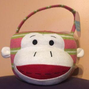 Sock Monkey Basket